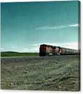 Rolling Freight Train Canvas Print