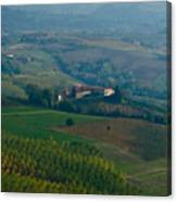 Rolling Hills Of The Piemonte Region Canvas Print