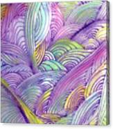 Rolling Patterns In Pastel Canvas Print