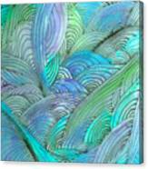 Rolling Patterns In Teal Canvas Print