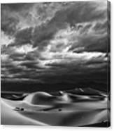 Rolling Sand Dunes Bw Canvas Print