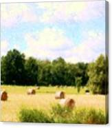 Rolling The Hay Canvas Print