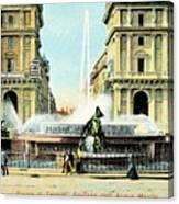 Roma 1900 Piazza Di Termini Canvas Print