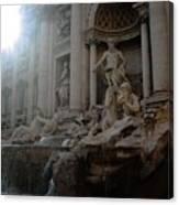 Roma Fontana Dei Trevi Canvas Print