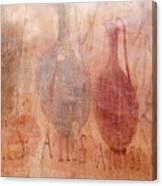 Roman Fresco Of Drink Pitchers, Herculaneum, Italy Canvas Print