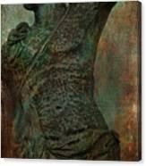 Roman Hunter Statue Torso Left Canvas Print