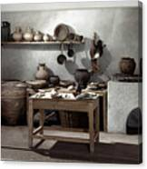 Roman Kitchen, 100 A.d Canvas Print