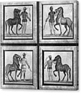 Roman Mosaic: Charioteers Canvas Print