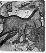 Roman Mosaic: Man & Horse Canvas Print