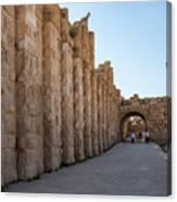Roman Ruins At Jerash, Jordan  Canvas Print