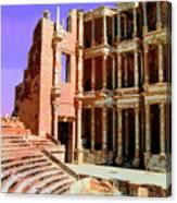 Roman Ruins At Sabrayha Canvas Print