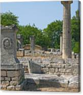 Roman Ruins Near St. Remy In Provence Canvas Print