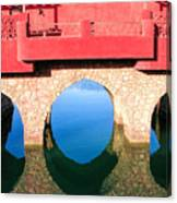 Roman Style Bridge On Red Sea Canvas Print