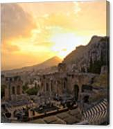 Roman Theater In Taormina IIi Canvas Print