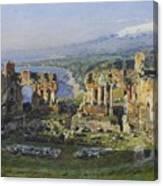 Roman Theatre Canvas Print