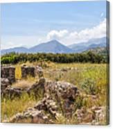 Roman Villa Ruins At Makry Gialos Canvas Print