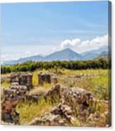 Roman Villa Ruins On Crete Canvas Print