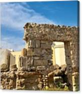Roman Wall In Cadiz Spain Canvas Print