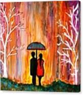 Romance In The Rain Canvas Print