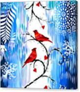 Romance In The Snow Canvas Print