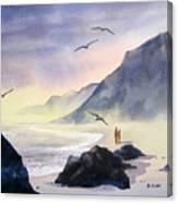 Romance Of The Cormorants Canvas Print