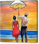 Romance On The Beach Canvas Print