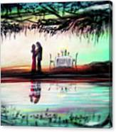 Romance Under The Oaks Canvas Print