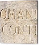 Romanee Conti Canvas Print