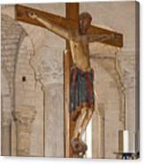 Romanesque Abbey Crucifix Canvas Print