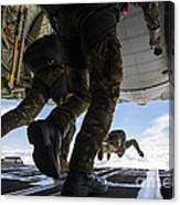 Romanian Paratroopers Perform A Halo Canvas Print