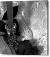 Romantic Black And White Canvas Print