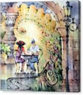 Romantic Dinner Canvas Print