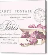 Romantic French Victorian Postcard Canvas Print