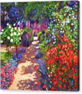 Romantic Garden Walk Canvas Print