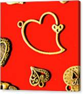 Romantic Heart Decorations Canvas Print