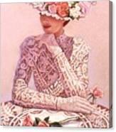 Romantic Lady Canvas Print