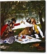 Romantic Picnic 1873 Canvas Print