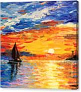 Romantic Sea Sunset Canvas Print