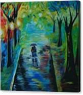 Romantic Stroll Canvas Print