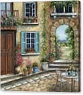 Romantic Tuscan Courtyard II Canvas Print