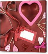 Romantic Theme Cookie Cutters Canvas Print
