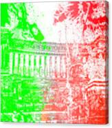 Rome - Altar Of The Fatherland Colorsplash Canvas Print