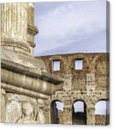 Rome Arch Of Titus Sculpture Detail Canvas Print