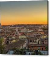 Rome At Sunset Canvas Print