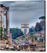 Rome Horizon Canvas Print