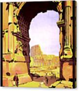 Rome, Italy, Rome Express Railway Canvas Print