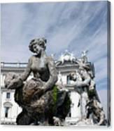 Rome Piazza Canvas Print