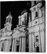 Rome - Piazza Navona - A View 3 Canvas Print