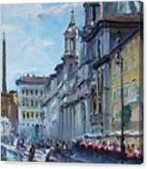Rome Piazza Navona Canvas Print
