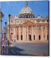 Rome Piazza San Pietro Canvas Print